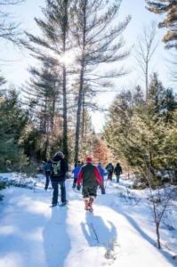 Snowshoers at Split Rock Conservation Area