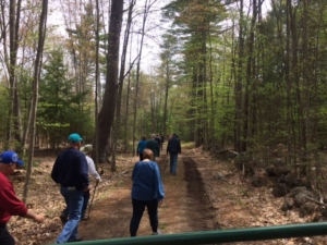 Hikers Head out on PLummers Ridge Trails; photo by Kate Wilcox